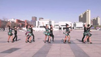盘锦市自由自在舞蹈俱乐部 远走高飞 表演 团队版附正背面口令分解教学演示