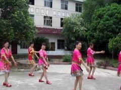 茉莉张家界感恩广场舞《摆手欢歌》团队版附分解教学正背面演示及慢速口令教学