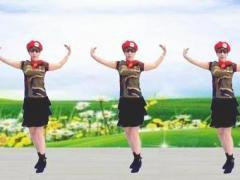 雪儿c广场舞《绿洲之恋》原创水兵舞附分解教学正背面演示及口令分解动作教学和背面演
