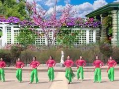 美久广场舞《歌在飞》简单大方附导师教学正背面演示及慢速口令教学