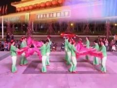 廣場舞大賽-安徽省-三亞迎賓廣場舞扇舞《拜新年》正背面演示及口令分解動作教學