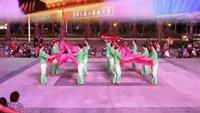 廣場舞大賽-安徽省-三亞迎賓廣場舞扇舞《拜新年》經典正背面演示及口令分解動作教學