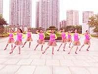 福建同安雙溪公園廣場舞 因為愛著你 表演 正反面演示及分解動作教學