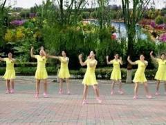 云裳廣場舞《響亮的問侯》肖肖老師原創時尚健身舞正背面演示及口令分解動作教學