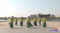 安徽無為縣總工會職工柔力球隊廣場舞  國韻 表演 團隊版 正背面演示及口令分解動作教學