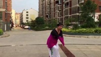 广水市北关社区舞蹈《葬花》慕容青独舞2018年正背面演示及口令分解动作教学