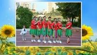 贛州金榜路快樂伙伴舞隊《最幸福的人》正反面演示及分解動作教學