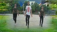 河莊愛尚廣場舞《向上攀爬》原創鬼步舞含教學正背面演示及口令分解動作教學和背面演