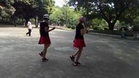 招大廣場舞隊《因為愛著你》楊麗萍編舞正背面演示及口令分解動作教學