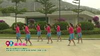 四川省攀枝花水兵舞蹈隊廣場舞  藍月谷 表演 團隊版 正背面演示及慢速口令教學