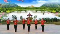 原野明珠廣場舞隊表演《我愛廣場舞》口令分解動作教學演示