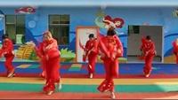 撫州青泥鎮申蓉廣場舞腰鼓舞《中國歌最美 >>正背面演示及口令分解動作教學和背面演