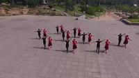 長治縣宋家莊舞緣健身舞蹈隊《冰雪天堂》正背面口令分解動作教學演示