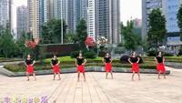四川蓉蓉廣場舞團隊版《開開心心每一天》原創附分解正背面演示及口令分解動作教學和背面演