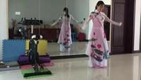《微風細雨》編舞蘇州盛澤雨夜廣場舞正背面演示及口令分解動作教學