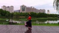 春暉廣場舞  舞蹈:《穿行》演示:牽手藍天附正背面口令分解教學演示