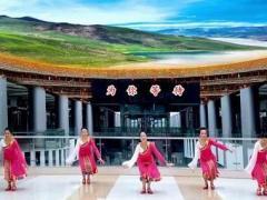 王梅廣場舞《為你等待》編舞王梅制作泉水叮咚正背面口令分解動作教學演示
