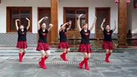 楠木愛之紅兒廣場舞《紅歌連跳》正背面演示及口令分解動作教學