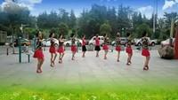 山東濟寧風雅頌舞蹈隊《哥哥妹妹》編舞:雪妹舞翩翩正背面演示及口令分解動作教學和背面演