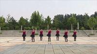 北京春暖花开舞蹈队 唱着情歌流着泪 表演 团队版 原创附正背面教学口令分解动作演示