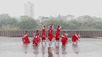 华容天资健身队广场舞 天堂牧歌 表演 团队版