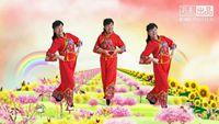 風中梅花廣場舞《中國歌最美》編舞 慧慧 演示 梅花 口令分解動作教學
