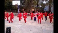 龍川豐新秀秀舞蹈隊廣場舞《拜新年》 正背面演示及慢速口令教學