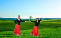 誓言廣場舞《美麗的草原我的愛》原創附教學 正背面演示及口令分解動作教學和背面演