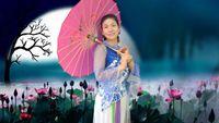誓言廣場舞《雨中》原創附教學 形體拉伸古典傘舞 正背面演示及口令分解動作教學