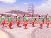 陜西鳳舞飛天廣場舞 雪蓮 表演 正背面口令分解動作教學演示