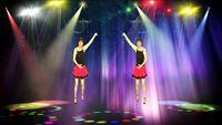 南通市彩虹廣場舞《愛情毛毛雨》編舞:范范 正背面演示及口令分解動作教學和背面演