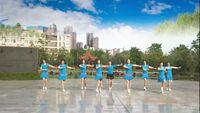 玉米舞蹈《健康走出来》演示蓝天白云姐妹附正背面口令分解教学演示