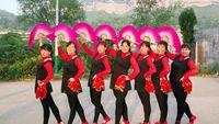 開心玫瑰廣場舞《大辮子》原創編舞麗萍老師,演示制作,開心玫瑰健身隊 正背面口令分解動作教學演示