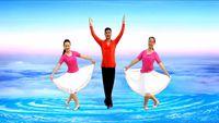 鳳凰六哥廣場舞《冰雪天堂》原創中三附教學 口令分解動作教學