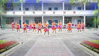 金水美調廣場舞《中國歌最美》十四人變隊形花球舞蹈 原創附教學口令分解動作演示