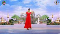 陽光美梅廣場舞《冰雪天堂》原創中三步附背面演示 完整版演示及口令分解動作教學