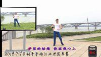 广西湘儿舞蹈《梦里的姑娘》个人版 附正背表演口令分解动作分解教学
