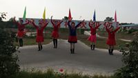 武功鋪邑村健身隊《中國味道》,編舞:王廣成。 經典正背面演示及口令分解動作教學