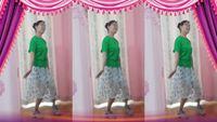 晨之虹舞蹈《雕花的马鞍》.个人版 正背面口令分解动作教学演示