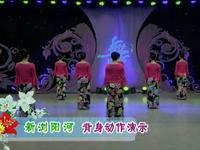 王梅舞蹈 新浏阳河 背面展示 原创附教学口令分解动作演示
