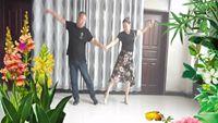 月光特亮廣場舞【今生的唯一】表演王大偉,師紅莉夫婦,編舞糖豆廣場舞課堂 原創附正背面教學口令分解動作演示