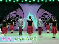 楊藝廣場舞  雪蓮 背面展示 經典正背面演示及口令分解動作教學