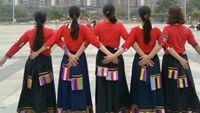 蔚藍天空廣場舞《為你等待》原創藏舞姐妹版 完整版演示及口令分解動作教學