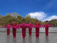 新安廣場舞 拜新年 表演 原創附正背面教學口令分解動作演示