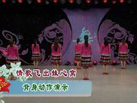 応子廣場舞  情歌飛進妹心窩 背面展示 正背面口令分解動作教學演示