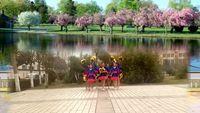 河南魯山軍王健身舞隊形版《中國歌最美》編舞 楠楠附正背面口令分解教學演示