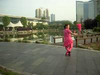 宜人悅舞健身廣場舞 劉海砍樵 背面展示 個人版 完整版演示及口令分解動作教學
