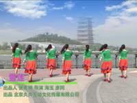 陜西鳳舞飛天廣場舞 雪蓮 背面展示 完整版演示及口令分解動作教學