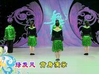 申秋燕廣場舞 綠旋風 背面展示 完整版演示及口令分解動作教學