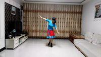 海彥廣場舞《藍色天夢》,編舞:蘇州盛澤雨夜廣場舞 正背面演示及慢速口令教學
